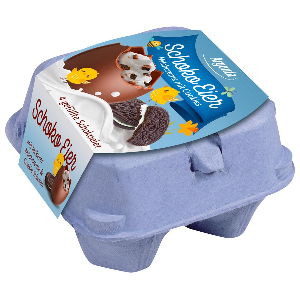 Chokladägg med Mjölkkräm och Kakor