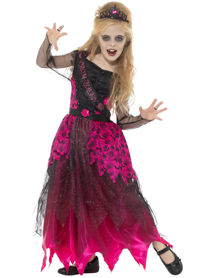 Deluxe Gothic Prom Queen Dräkt Barn