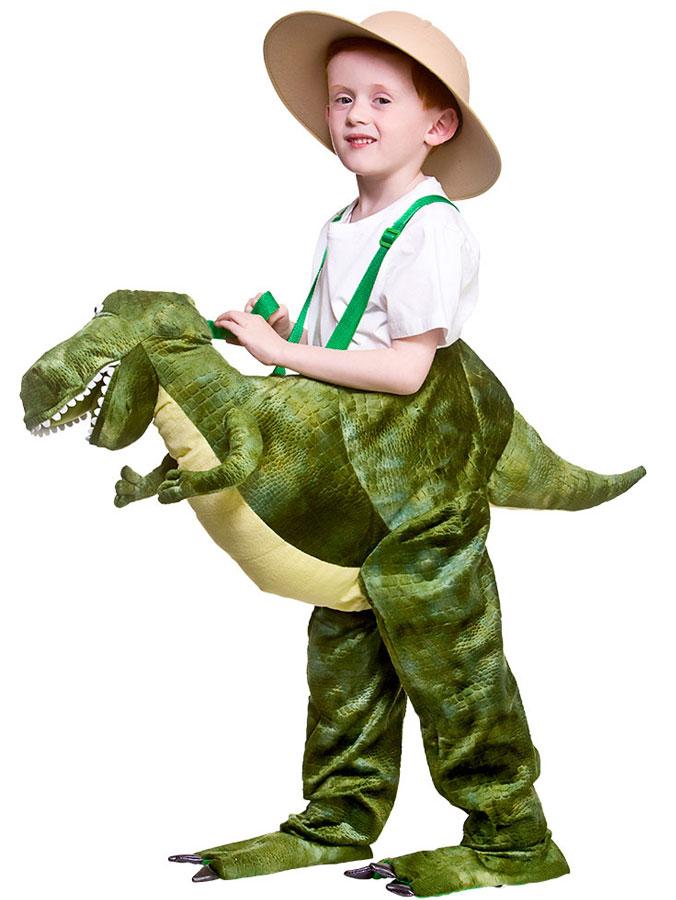 Deluxe Ridande Dinosauriedräkt Barn