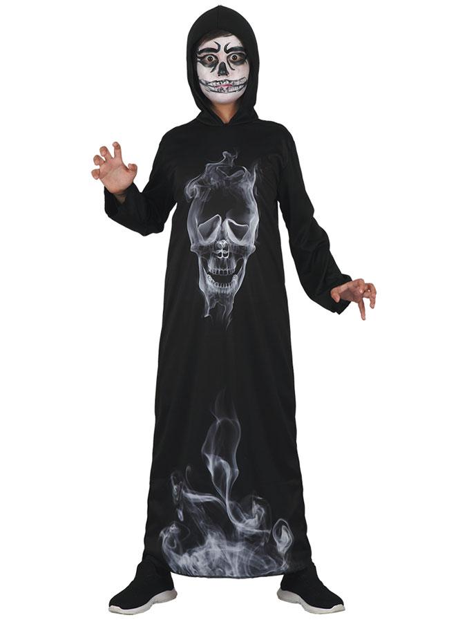 Demon Dräkt med Spökansikte Barn (Small (122-134cl))