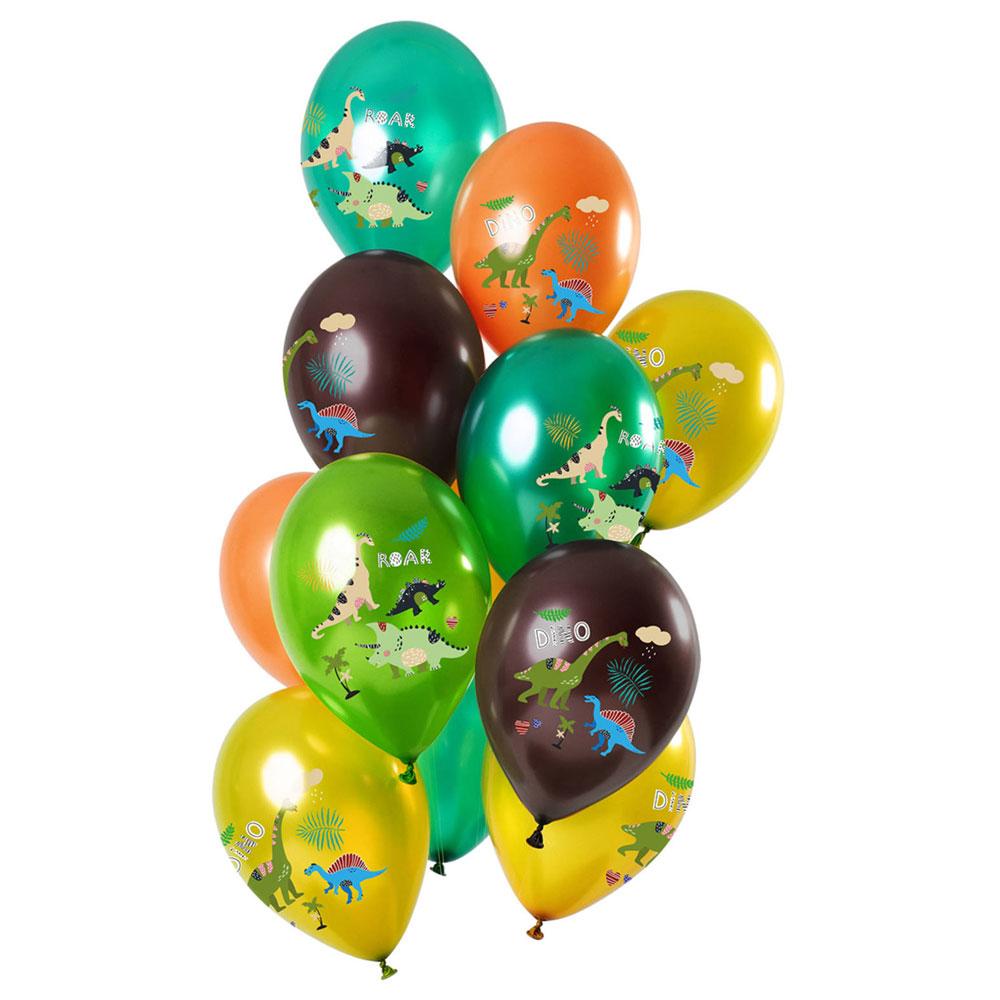 Dinosaurier Metallic Latexballonger