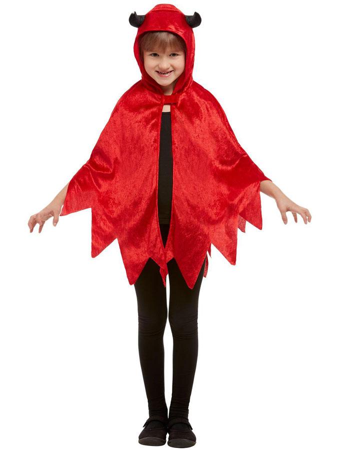 Djävul Mantel Röd Barn