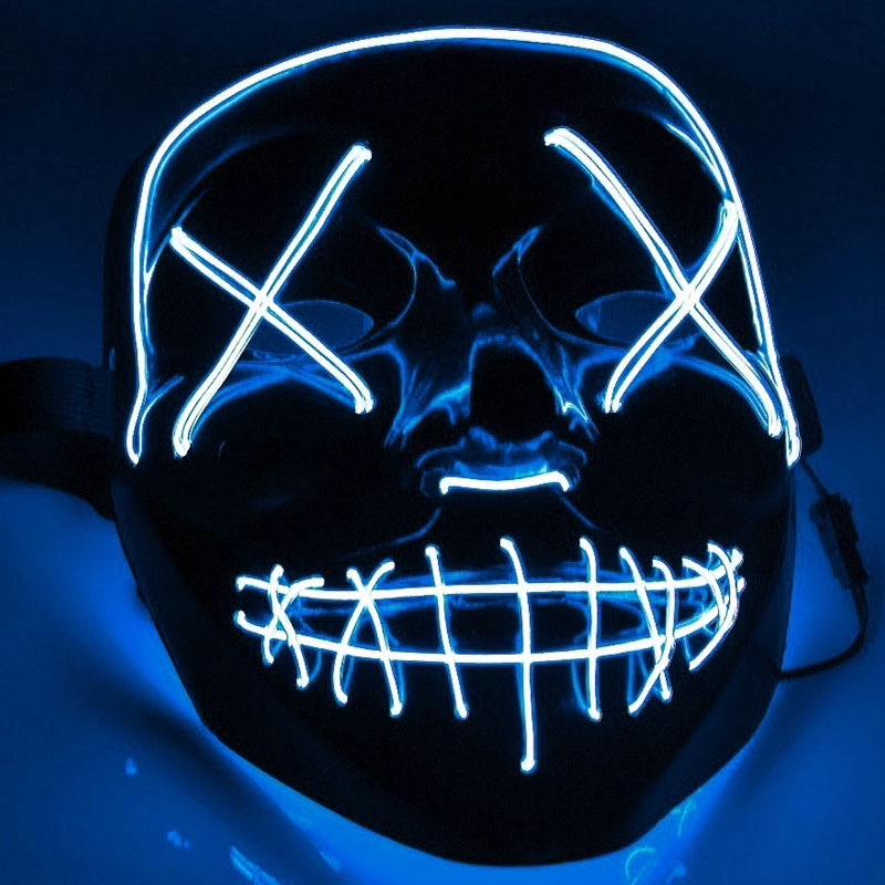 El Wire Purge LED Mask Blå