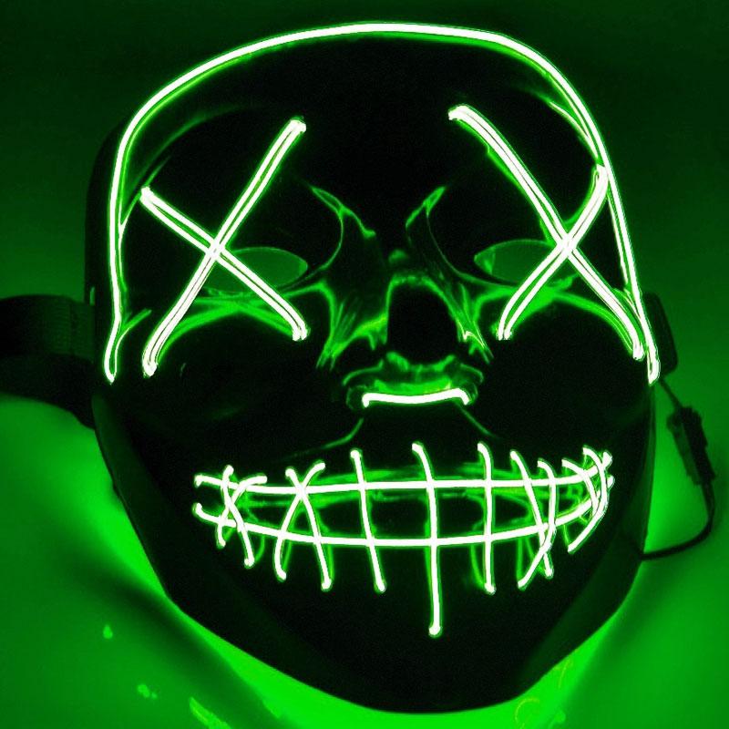 El Wire Purge LED Mask Grön