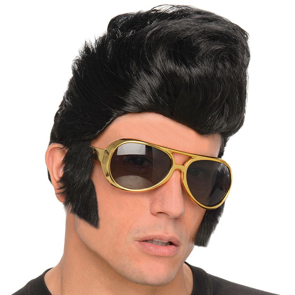 Elvis Peruk med Solglasögon