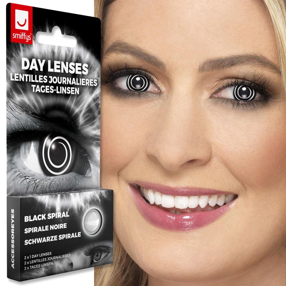 Färgade Linser Black Spiral