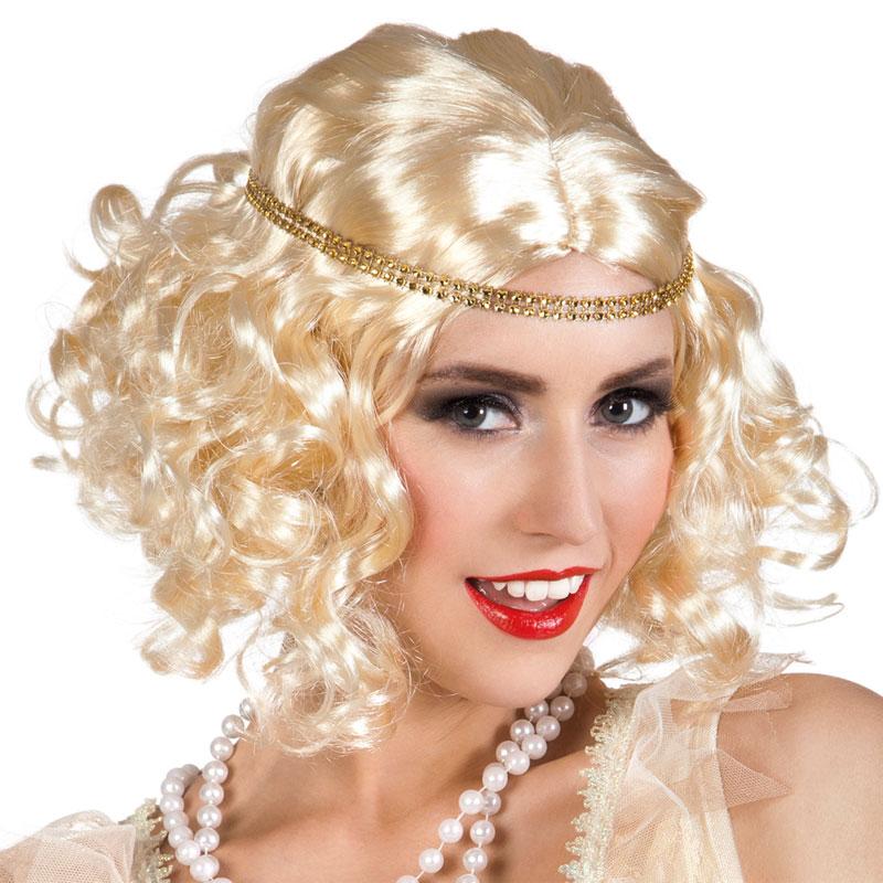 Flapper 20-tals Peruk Blond med Hårband