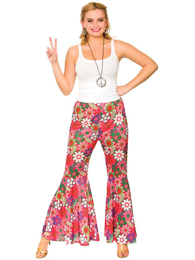Flower Power Hippie Byxor
