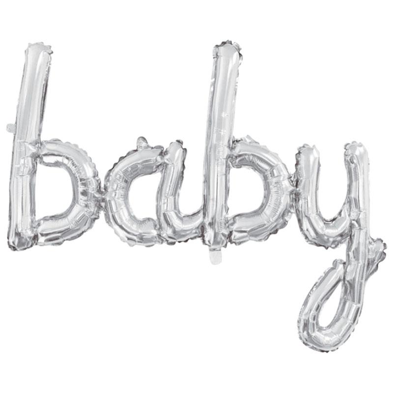 Folieballong Baby Silver