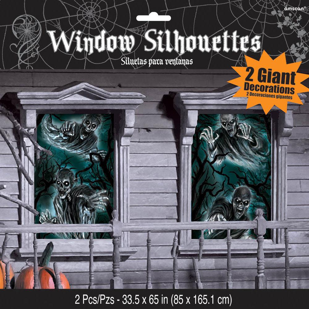 Fönsterdekorationer Läskiga Skelett