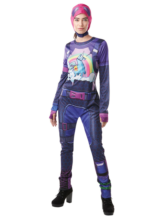 Fortnite Brite Bomber Maskeraddräkt (X-Small (str. 34))