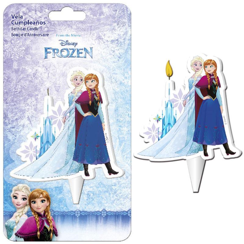 Frost Anna och Elsa Tårtljus