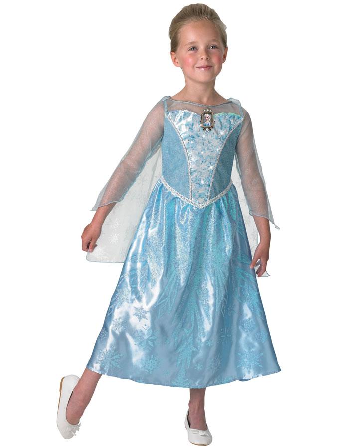 Frost Elsa Klänning med Musik Barn (Small (3-4 år))