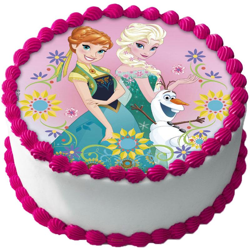 Frost Tårtbild Elsa och Anna A Sockerpasta