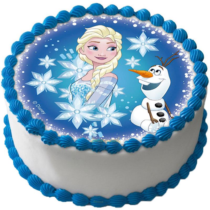 Frost Tårtbild Sockerpasta