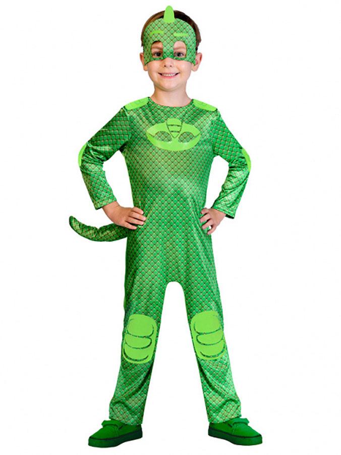 Gecko Pyjamashjältarna Maskeraddräkt Barn (Small (2-3 år))