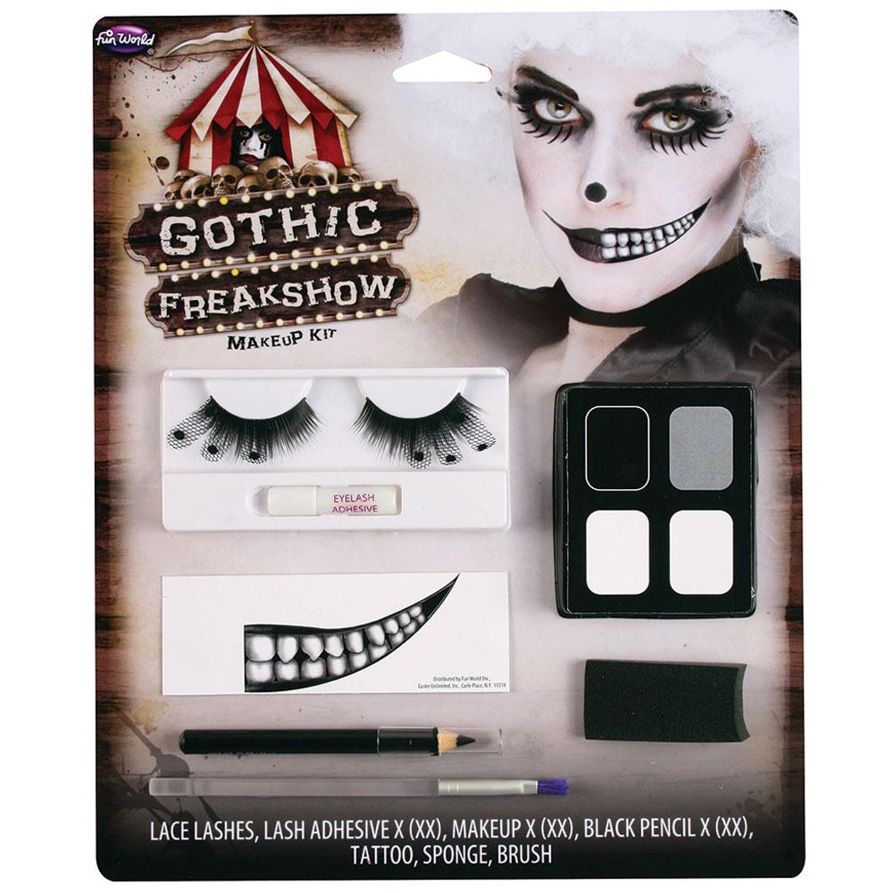 Gothic Freakshow Halvt Leende Sminkset