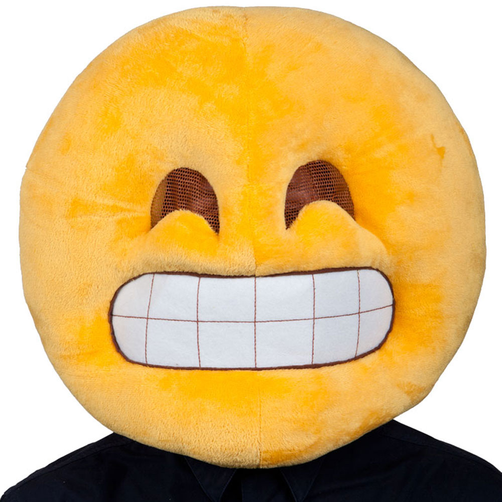 Grin Head Emoji Mask