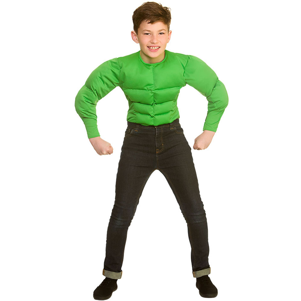 Grön Muskeldräkt Barn