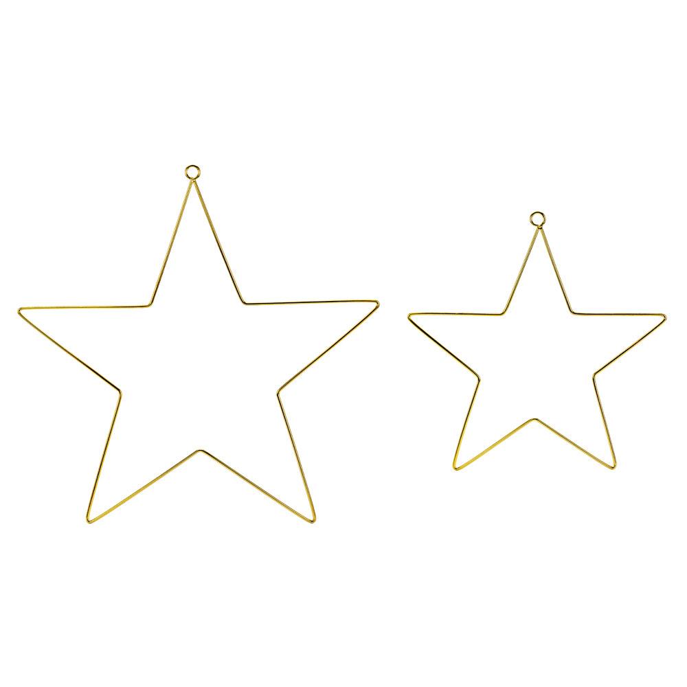 Guld Stjärnor Hängande Dekorationer