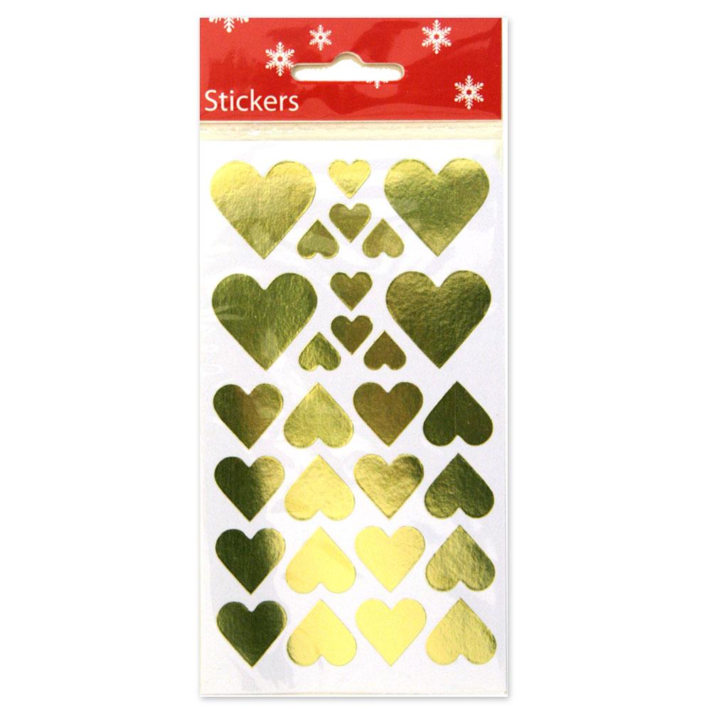 Guldiga Hjärtan Klistermärken