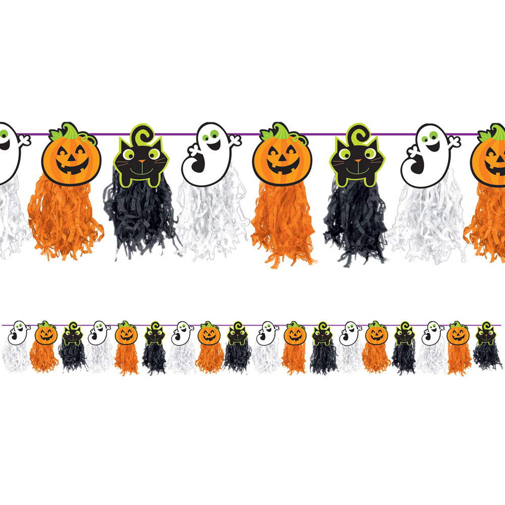 Halloween Girlang med Spöken och Pumpor