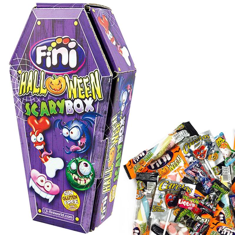 Halloween Kista med Godis Mix