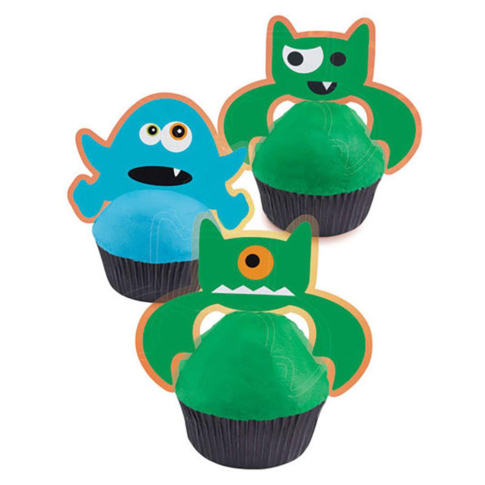 Halloween Monster Cupcake Dekorations Kit