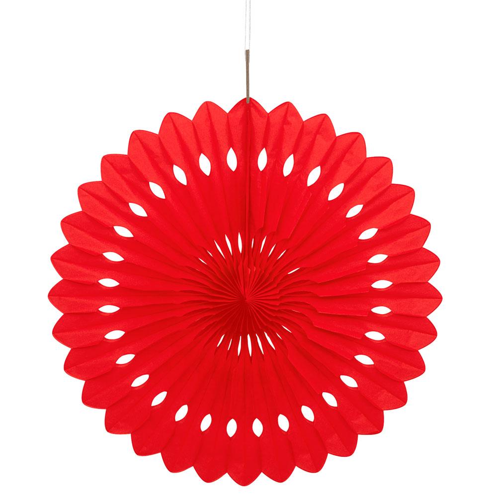 Hängande Honeycomb Solfjäder Röd