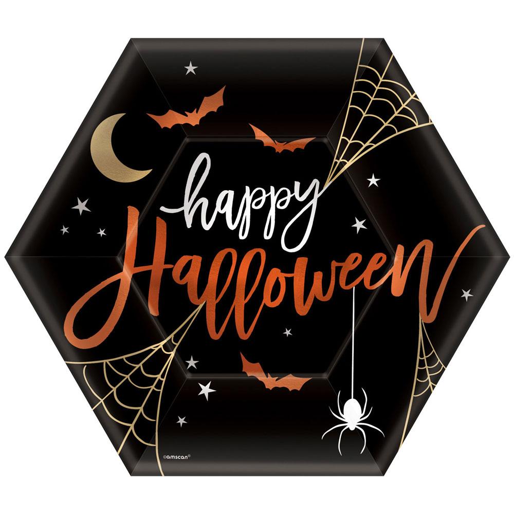 Happy Halloween Papptallrikar