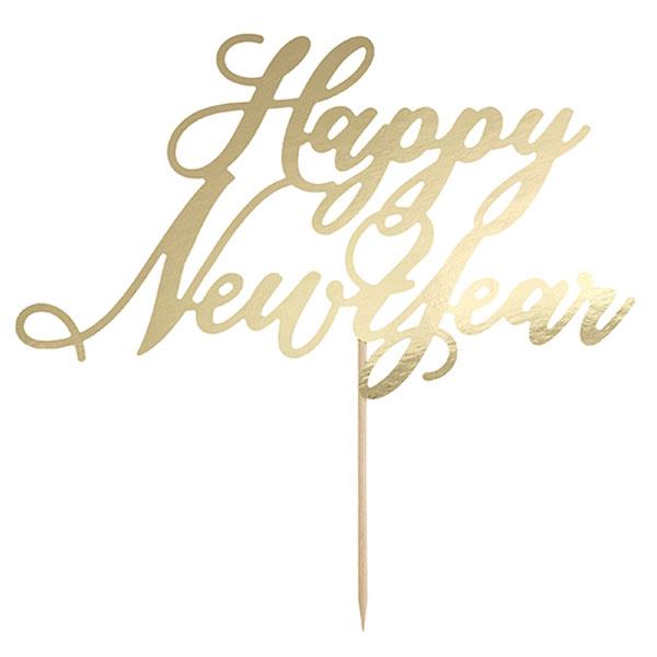 Happy New Year Tårtdekoration