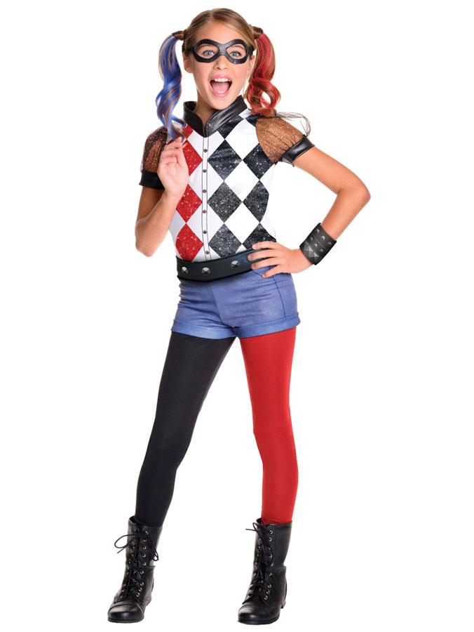 Harley Quinn Dräkt Deluxe Barn (Small (3-4 år))