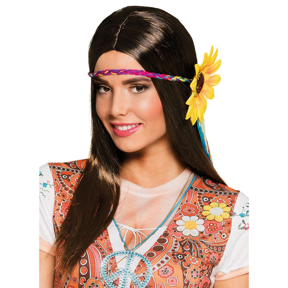 Hippie Peruk med Solros