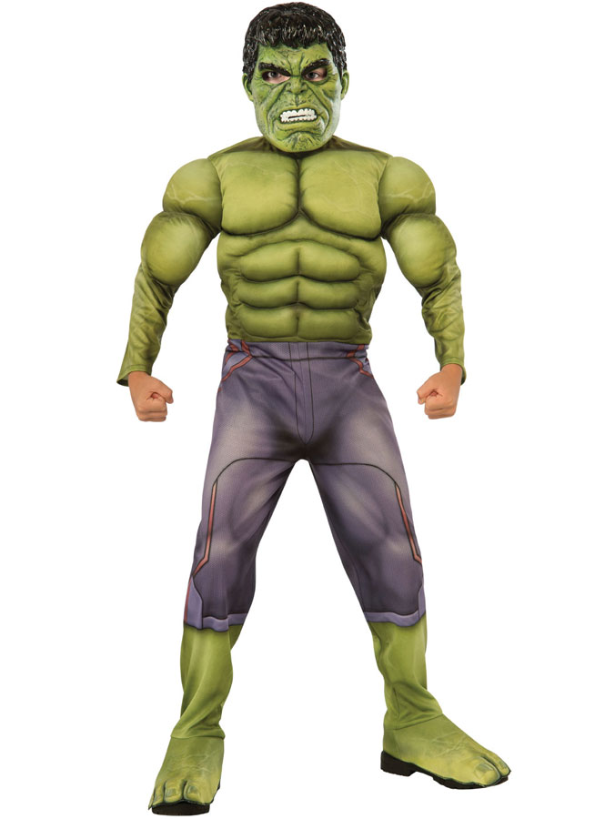 Hulken Dräkt Muskler Barn (Small (3-4 år))