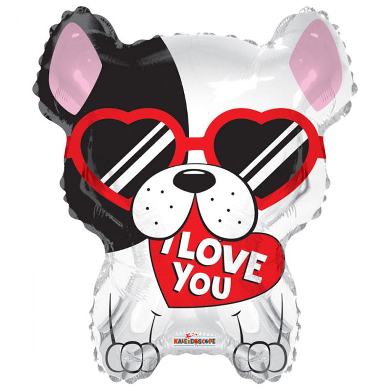 I Love You Hund Folieballong