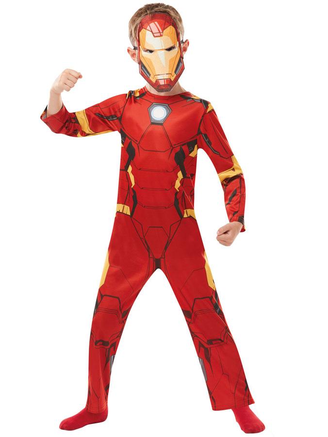 Maskeraddräkter - Iron Man Maskeraddräkt Barn (Small (3-4 år - 104cl))