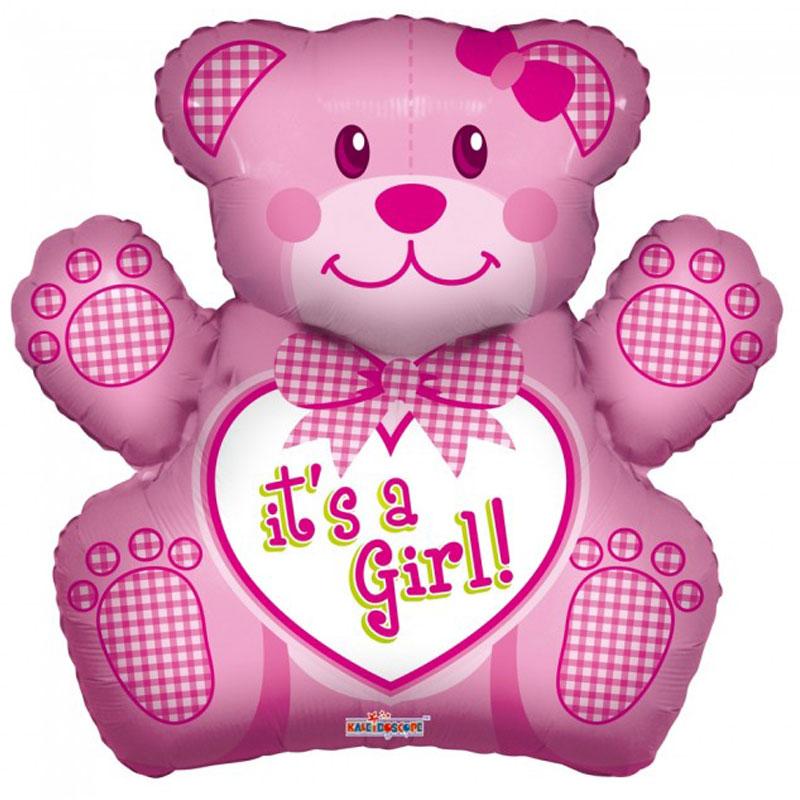 It's A Girl Nalle Ballong