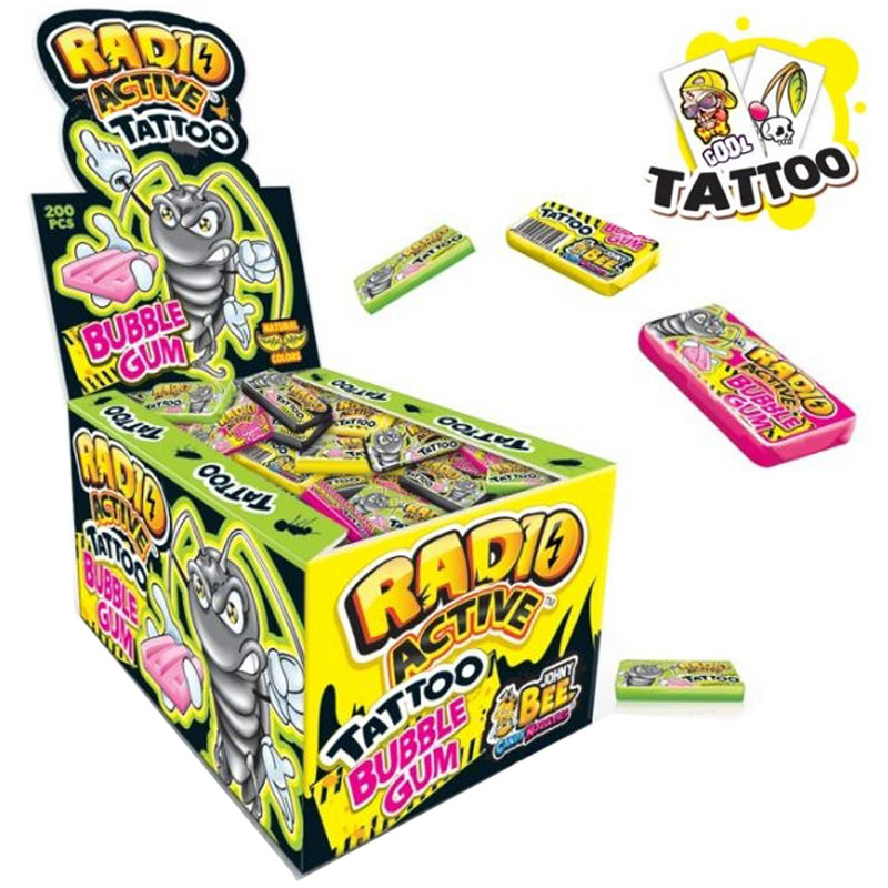 Johny Bee Radio-Active Tattoo Gum