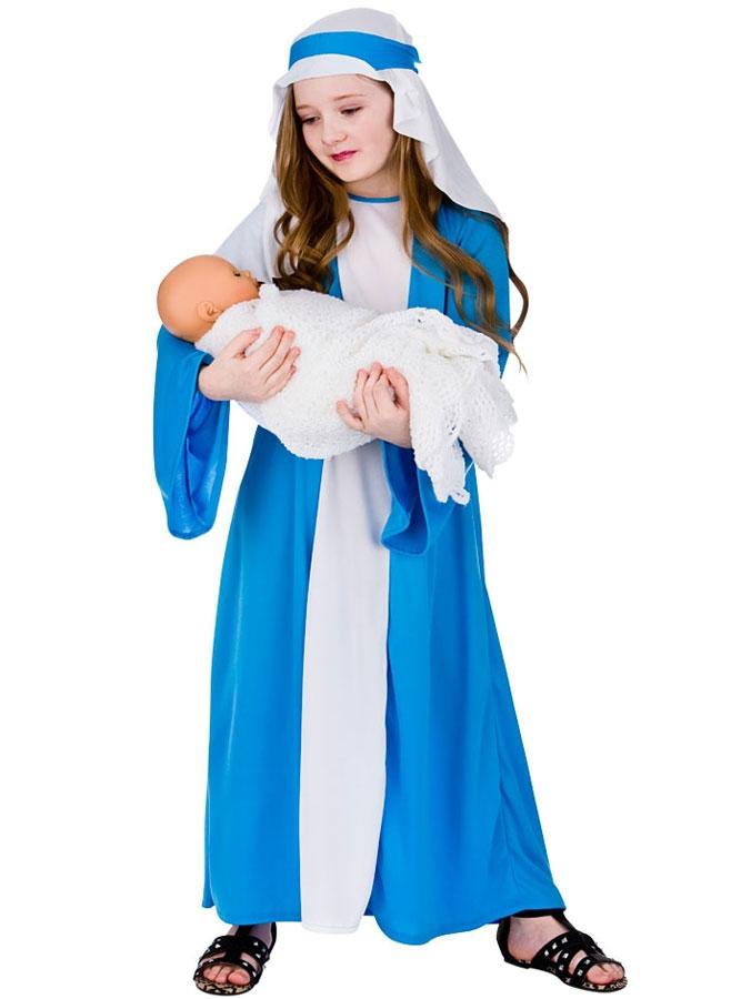 Jungfru Maria Maskeraddräkt Barn (Small (3-4 år))