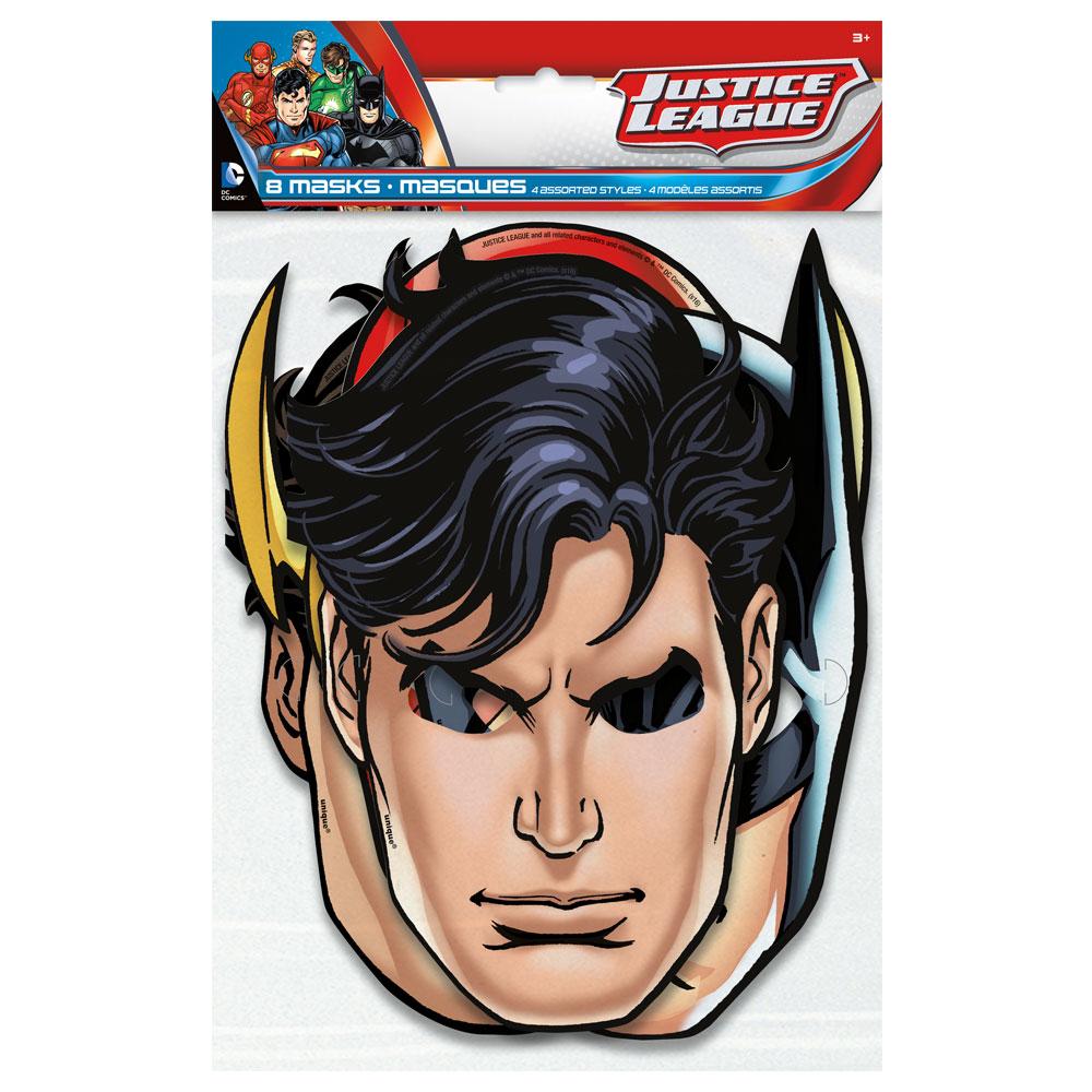Justice League Pappmasker