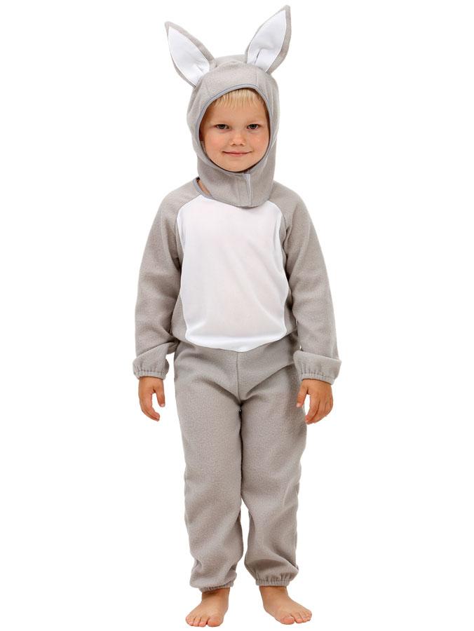 Kanindräkt Grå Barn (Small (2-4 år))