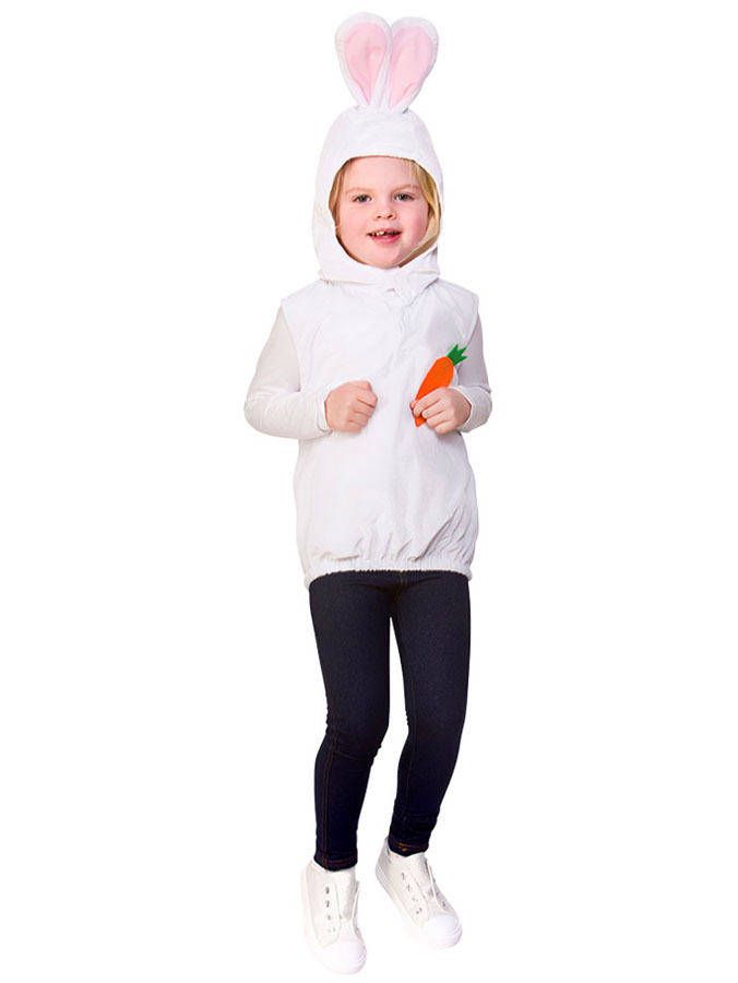 Kanindräkt med Luva Barn