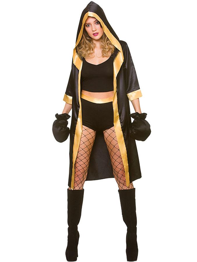 Maskeraddräkter - Kvinnlig Boxare Dräkt (X-Small (str. 34-36))