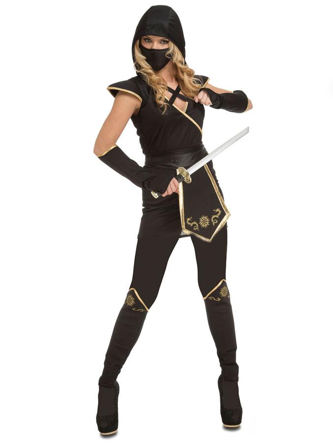 Kvinnlig Ninja Maskeraddräkt (X-Small)