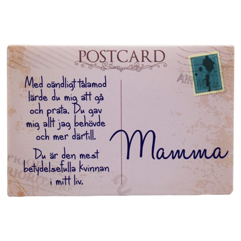 Kylskåpsmagnet Postkort till Mamma