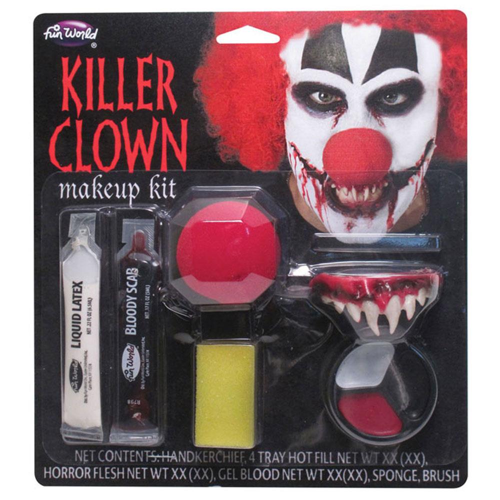 Läskig Clown Smink Kit