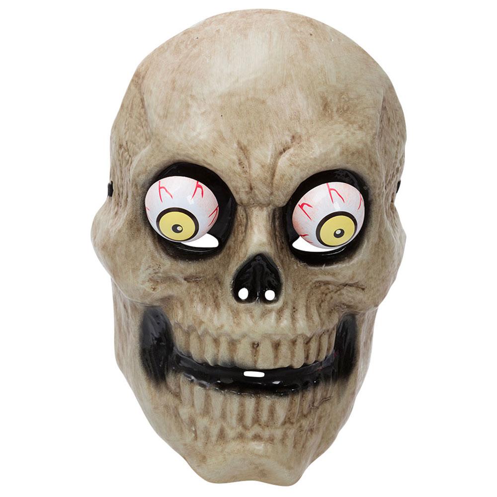 Läskig Döskalle Mask med Utstående Ögon