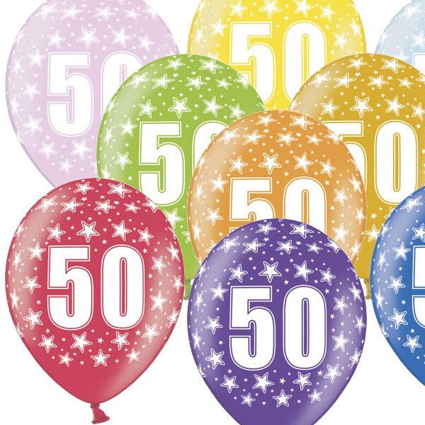 Latex Sifferballonger 50