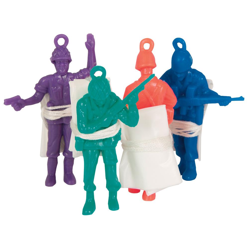 Leksakssoldater med Fallskärm