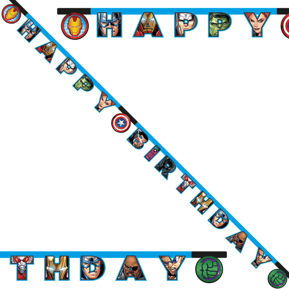 Marvel Avengers Happy Birthday Girlang